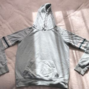 light green hoodie